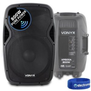 "AP15 V3 Active PA Speaker 1600W IPP 15"" DJ Disco Sound System"