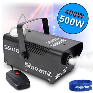 Beamz 500 Watt Remote Control Smoke Machine 5 Litres of HQ Fog DJ Disco Fluid